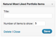 Natural Most Liked Portfolio Items